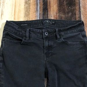 LUCKY BRAND LADIES BLACK JEANS SIZE 4 INSEAM 27